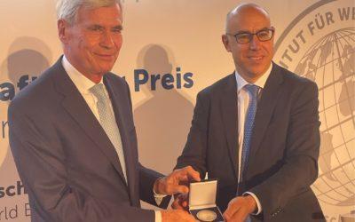 Global Economy Prize für Unternehmer und Stifter Prof. Dr. Michael Otto