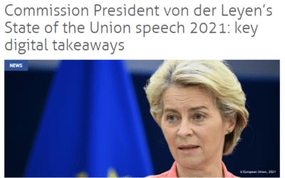 Commission President von der Leyen's State of the Union speech 2021: key digital takeaways